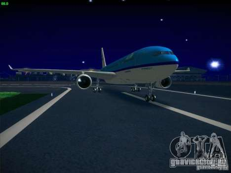 Airbus A330-200 KLM Royal Dutch Airlines для GTA San Andreas вид сзади слева