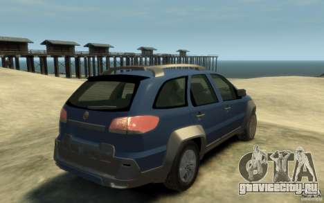 Fiat Palio Adventure Locker для GTA 4 вид справа