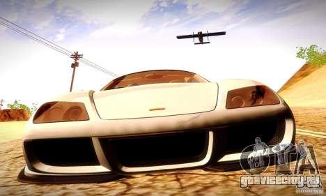 Noble M600 Final для GTA San Andreas вид изнутри
