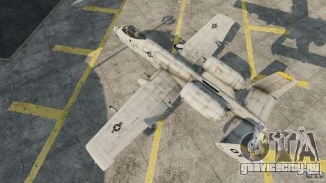 A-10A Thunderbolt II для GTA 4 вид справа