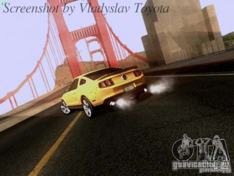 Ford Mustang GT 2011 для GTA San Andreas вид справа