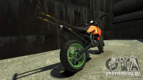 Stunt Supermotard Sanchez для GTA 4 вид сзади слева