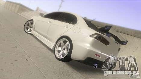 Mitsubishi Lancer Evo IX DIM для GTA San Andreas вид слева