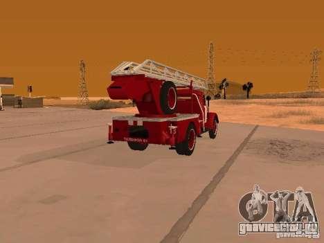 ГАЗ-51 АЛГ-17 для GTA San Andreas вид сзади слева