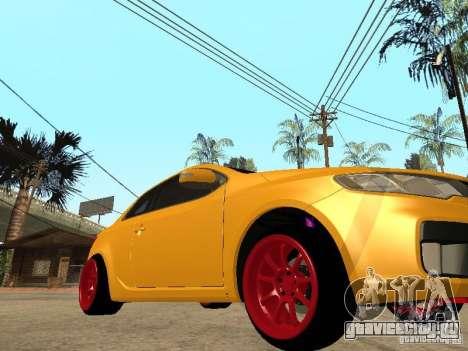 Kia Cerato Coupe JDM для GTA San Andreas вид сзади слева