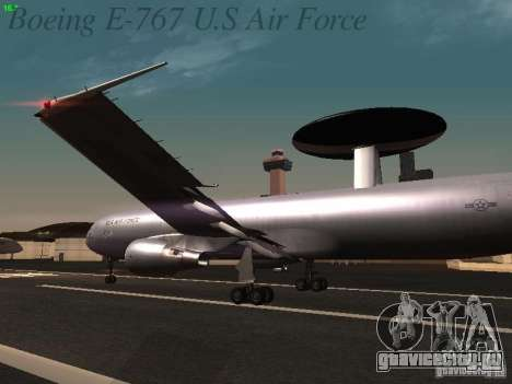 Boeing E-767 U.S Air Force для GTA San Andreas колёса