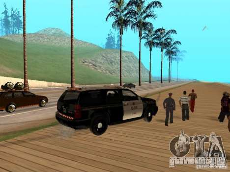 Chevrolet Tahoe Ontario Highway Police для GTA San Andreas вид справа
