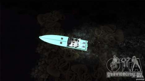 Wellcraft 38 Scarab KV для GTA San Andreas вид сзади
