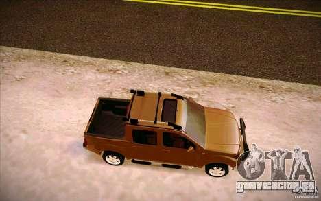 Nissan Fronter для GTA San Andreas вид сзади