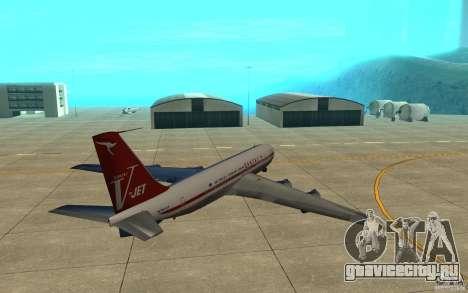 Qantas 707B для GTA San Andreas вид сзади