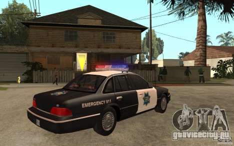 Ford Crown Victoria SFPD 1992 для GTA San Andreas вид справа