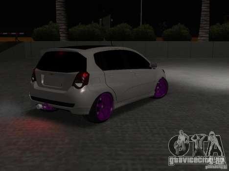 Chevrolet Aveo Tuning для GTA San Andreas вид сзади
