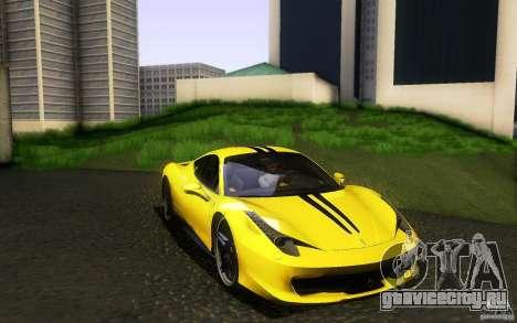 Ferrari 458 Italia Final для GTA San Andreas салон