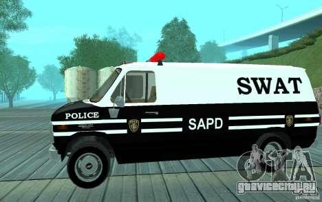 Chevrolet G20 Enforcer для GTA San Andreas вид сзади слева