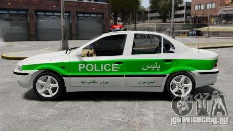 Iran Khodro Samand LX Police для GTA 4 вид слева