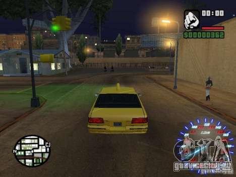 Neon Style Speedometr для GTA San Andreas второй скриншот