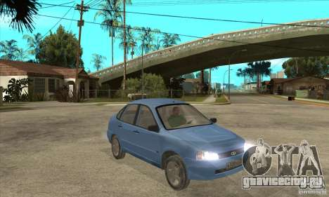 ВАЗ 1118 Калина для GTA San Andreas салон