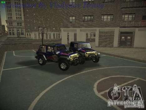 Jeep Wrangler Red Bull 2012 для GTA San Andreas вид справа