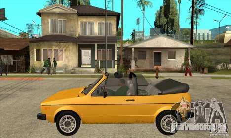 Volkswagen Rabbit Convertible для GTA San Andreas вид слева