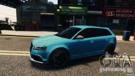 Audi RS3 Sportback V1.0 для GTA 4 вид слева