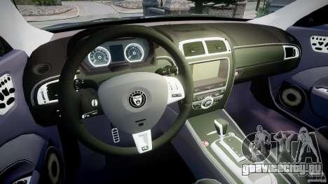 Jaguar XKR-S для GTA 4 вид сзади