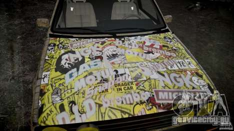 Volkswagen Golf Mk2 GTI Rat-Look для GTA 4 вид сзади слева