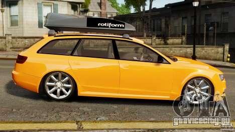 Audi A6 Avant Stanced 2012 v2.0 для GTA 4 вид слева