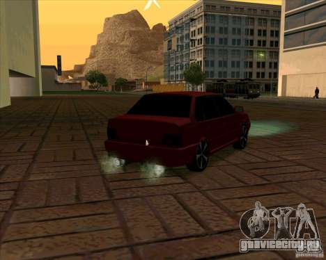 Ваз-2115 для GTA San Andreas вид сзади слева
