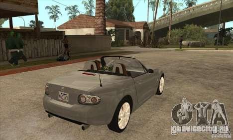 Mazda MX-5 2007 для GTA San Andreas вид справа