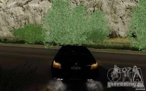 BMW M5 2009 для GTA San Andreas вид сзади
