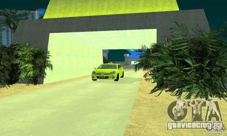 Opel Astra GTS для GTA San Andreas вид сзади слева
