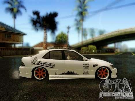 Lexus IS300 Jap style для GTA San Andreas вид справа