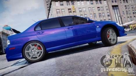 Mitsubishi Lancer Evolution VIII для GTA 4 вид слева