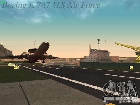Boeing E-767 U.S Air Force для GTA San Andreas салон
