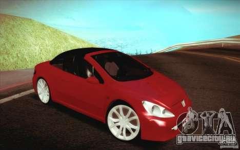 Peugeot 307CC BMS Edition для ноутбуков для GTA San Andreas вид сбоку
