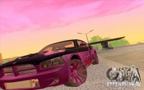 Dodge Charger SRT 8 для GTA San Andreas вид справа