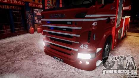 Scania Fire Ladder v1.1 Emerglights blue-red ELS для GTA 4 вид снизу