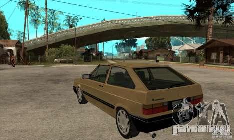 VW Gol GL 1.8 1989 для GTA San Andreas вид сзади слева