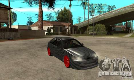 Honda Civic Carbon Latvian Skin для GTA San Andreas вид изнутри