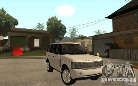 Range Rover Supercharged 2008 для GTA San Andreas вид сзади