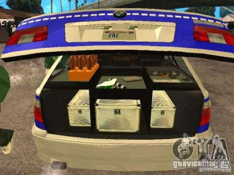 BMW 525i Touring Police для GTA San Andreas вид сзади