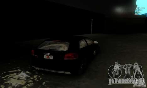 Audi S3 для GTA San Andreas вид сбоку