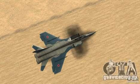 МиГ-31 Foxhound для GTA San Andreas вид справа