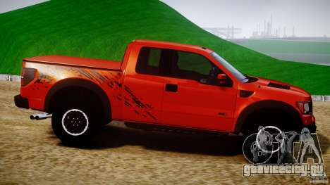 Ford F150 SVT Raptor 2011 для GTA 4 вид сбоку