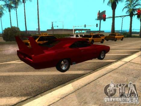 Dodge Charger Daytona Fast & Furious 6 для GTA San Andreas вид сзади слева