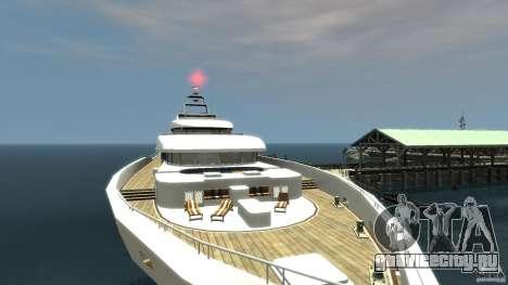 Yacht v1 для GTA 4 вид сзади слева