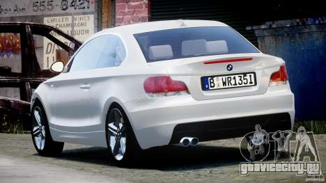 BMW 135i Coupe 2009 [Final] для GTA 4 вид сзади слева