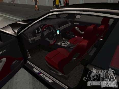 BMW M3 GT-R Stock для GTA San Andreas вид сверху