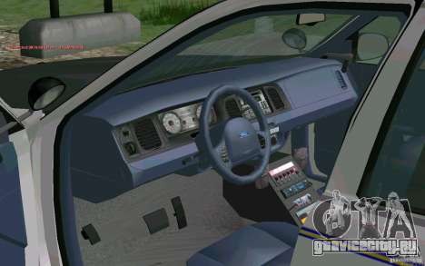 Ford Crown Victoria Police для GTA San Andreas вид сзади