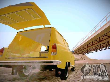 ГАЗ 22В Фургон для GTA San Andreas вид изнутри